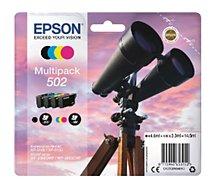 Cartouche d'encre Epson 502 (N/C/M/J) Série Jumelles