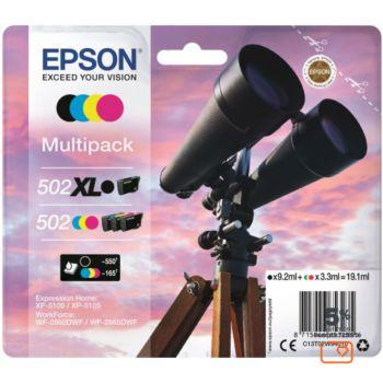 Epson 502 Noir XL+C/M/J Série Jumelles