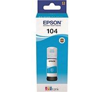 Cartouche d'encre Epson  Ecotank Bouteille 104 Cyan