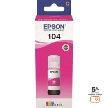 Epson Ecotank Bouteille 104 Magenta