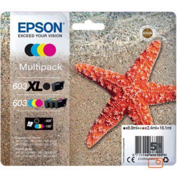 Epson 603XL Noir et CMJ STD Etoile de Mer