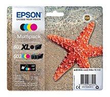 Cartouche d'encre Epson  603XL Noir et CMJ STD Etoile de Mer