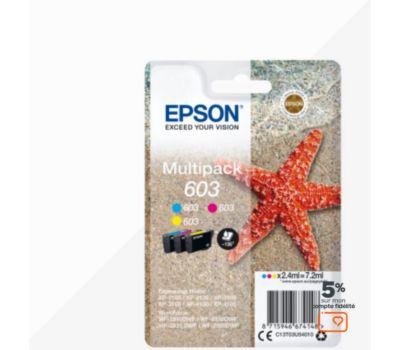 Cartouche d'encre Epson 603 (CMJ) Etoile de Mer