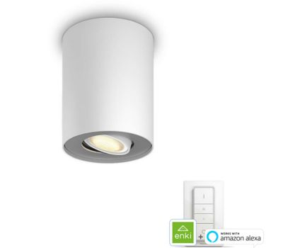 Plafonnier Philips PILLAR single spot white x 1