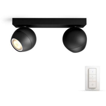 Philips BUCKRAM Spot Noir 2 spots