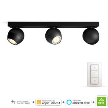 Philips BUCKRAM Spot Noir 3 spots