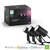 Lanterne Philips Hue LILY Kit 3 Spots 8W - Anthracite