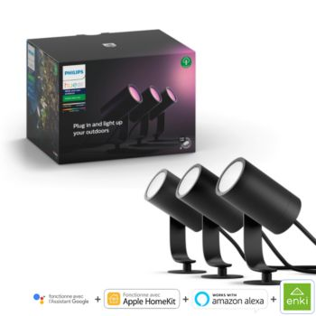 Philips Hue LILY Kit 3 Spots 8W - Anthracite