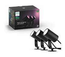 Lampe connectée Philips  Hue LILY Kit 3 Spots 8W - Anthracite