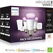 Pack Philips E27 White & Colors +détecteur+variateurs