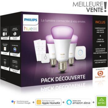 Philips E27 White & Colors +détecteur+variateurs