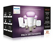 Philips E27 White & Colors +détecteur+variateurs