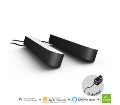 Ampoule connectée Philips Hue Play Pack x2  Noir