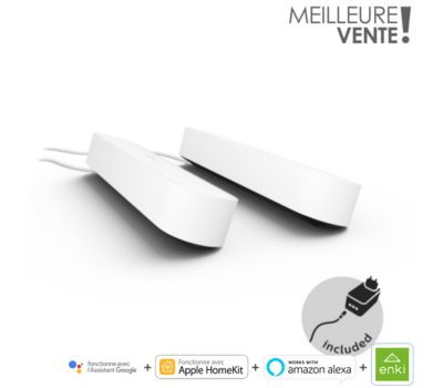 Lampe connectée Philips Hue Play Pack x2  Blanc