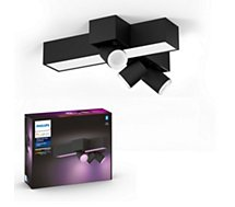 Plafonnier Philips  Centris Hue 3L cross Ceiling Black