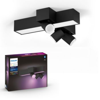 Philips Centris Hue 3L cross Ceiling Black