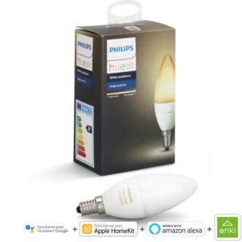 Philips Hue White & Ambiance Flamme E14