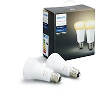 Ampoule connectable Philips Pack x2 E27 White & Ambiance