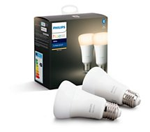 Ampoule connectée Philips  Pack x2 E27 Hue White