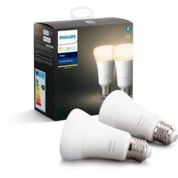 Philips Pack x2 E27 Hue White