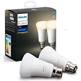 Ampoule connectée Philips  Pack x2 B22 Hue White