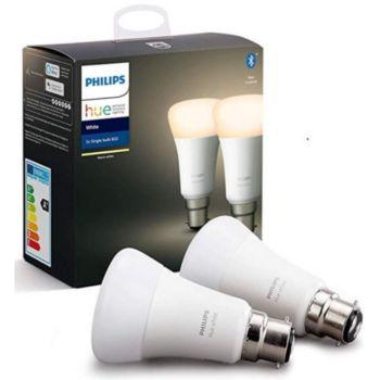 Philips Pack x2 B22 Hue White