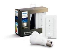 Ampoule connectée Philips  E27  white + télécommande