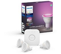 Pack Philips  démarrage GU10 Hue White & colors