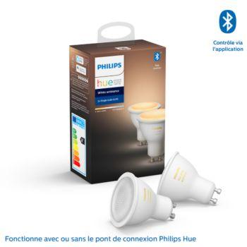 Philips Pack x2 GU10 White & Ambiance