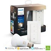Ampoule connectée Philips E27 white ambiance + télécommande