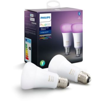 Philips Pack x2 E27 Hue White & colors
