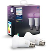 Ampoule connectée Philips Pack x2 B22 Hue White & colors