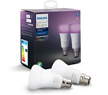 Ampoule connectée Philips  Pack x2 B22 Hue White & colors