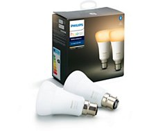 Ampoule connectée Philips  Pack x2 B22 Hue White & Ambiance
