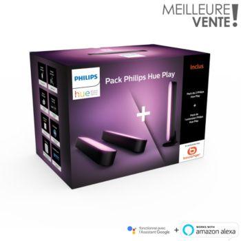 Philips 2 Hue Play Noir + 1 Hue Play Noir Ext
