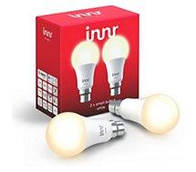 Ampoule connectée Innr  B22 x2 LED Connectée Blanc chaud 2700K
