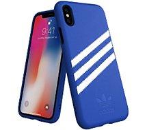 Coque Adidas Originals iPhone X/Xs SUEDE FW18 bleu/blanc