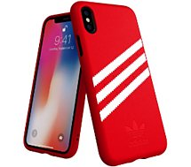 Coque Adidas Originals iPhone X/Xs SUEDE FW18 rouge/blanc