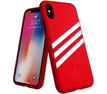 Coque Adidas Originals  iPhone X/Xs SUEDE FW18 rouge/blanc
