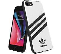 Coque Adidas Originals iPhone 6s/7/8 PU FW18 blanc/noir