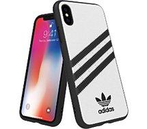 Coque Adidas Originals  iPhone X/Xs PU FW18 blanc/noir