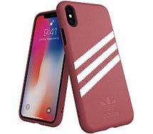 Coque Adidas Originals iPhone X/Xs SUEDE FW18 bordeaux/blanc