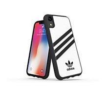 Coque Adidas Originals iPhone Xr PU FW18 blanc/noir