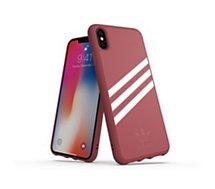 Coque Adidas Originals iPhone Xs Max SUEDE FW18 bordeaux/blanc