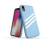 Coque Adidas Originals iPhone Xr SUEDE FW18 bleu/blanc