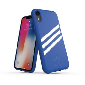 Adidas Originals iPhone Xr SUEDE FW18 bleu/blanc
