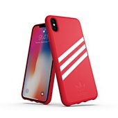 Coque Adidas Originals iPhone Xs Max SUEDE FW18 rouge/blanc