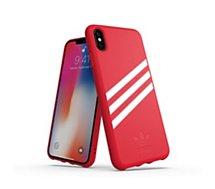 Coque Adidas Originals iPhone Xs Max SUEDE FW18 rouge/blanc