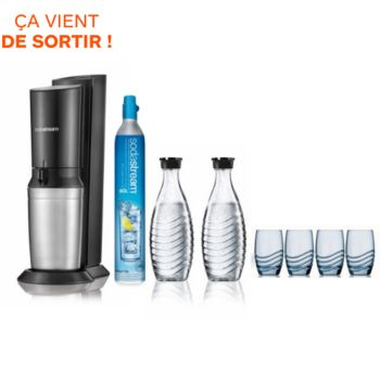 sodastream crystal pack verre machine soda boulanger. Black Bedroom Furniture Sets. Home Design Ideas