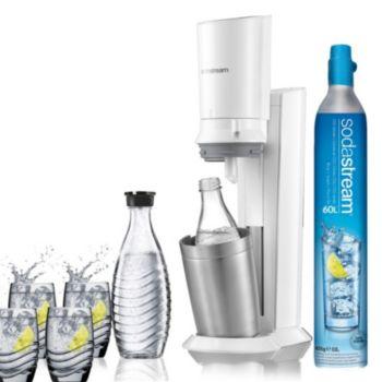 Sodastream Machine CRYSTAL blanche pack verre